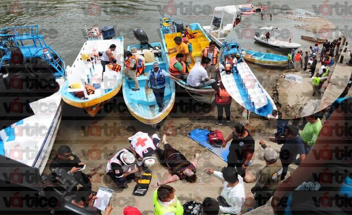 Muere turista tras choque de lanchas en el río Grijalva de Chiapas