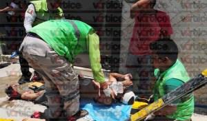 Se electrocuta pintor y cae de un segundo piso