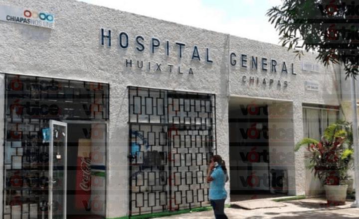 Muere menor tras caer de una camilla en el Hospital General de Huixtla
