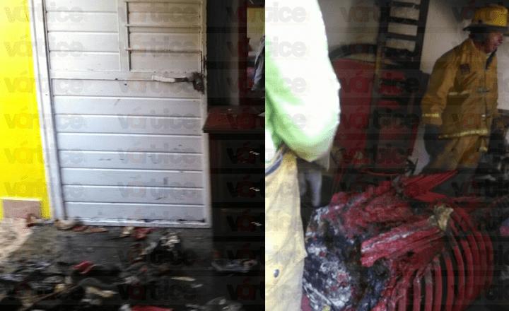 Niños provocan incendio al jugar con pirotecnia en Tuxtla