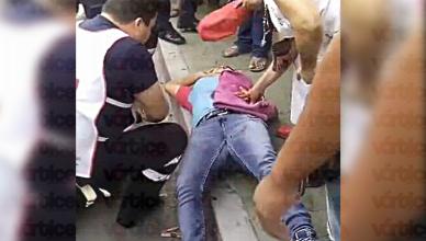 Presunta asaltante resulta herida de bala en forcejeo y se hace pasar por víctima