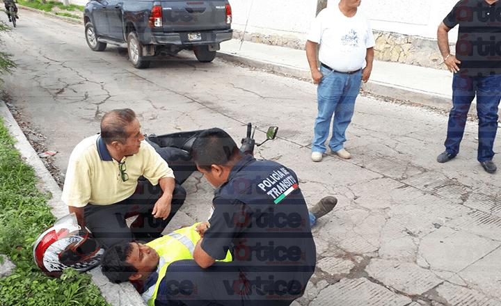 Camioneta atropella a motociclista en Tuxtla