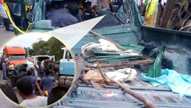 Carreterazo en Playas de Catazajá deja 7 muertos y al menos 13 heridos