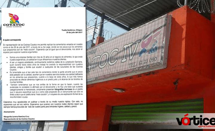 Lamenta Coyatoc denuncia de mala cocción en sus alimentos