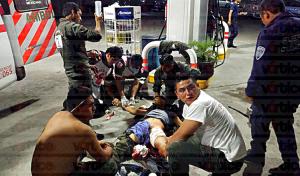 Bala perdida hiere a trabajador de una gasolinera en Plan de Ayala