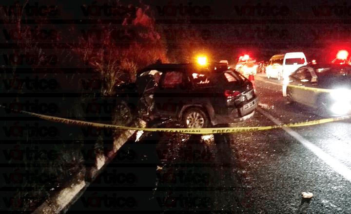 Carreterazo sobre la autopista Tuxtla-SCLC deja un muerto y dos heridos