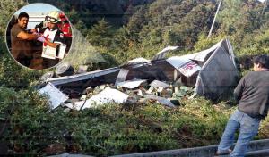Vuelca trailero en la autopista Tuxtla-San Cristóbal