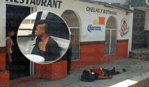 Asesinan a vigilante frente al bar El Capo, en Terán