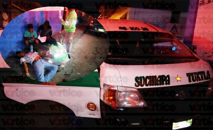 Colectivazo en la zona centro de Tuxtla deja 9 heridos