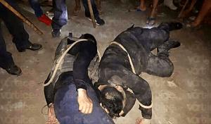 Amarran y golpean a policías estatales en Mazatán