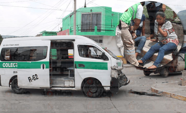 Colectivazo en Tuxtla deja 9 lesionados