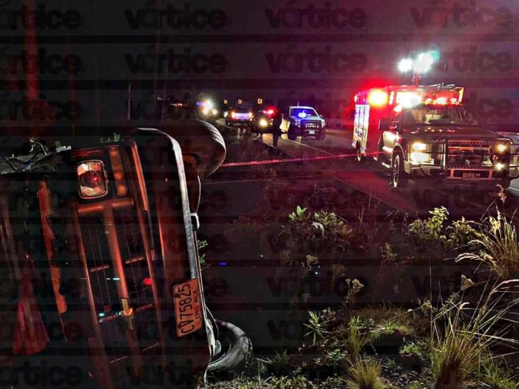 Mueren 6 migrantes tras volcadura en Rancho Nuevo