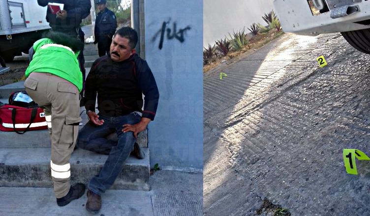 Lesionan con arma de fuego a peatón durante un asalto en Tuxtla