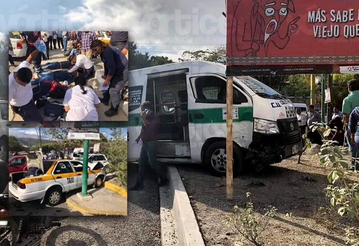 Colectivazo en Tuxtla deja 8 pasajeros heridos