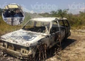 Hallan cadáver calcinado dentro de un vehículo en Chiapa de Corzo
