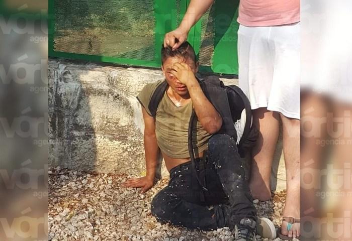 Casi linchan a presunto ladrón frente al Cobach 13