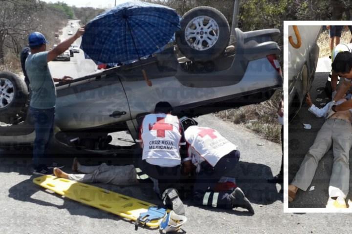 Muere profesora jubilada en aparatosa volcadura en Suchiapa