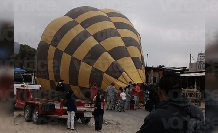Aterrizaje forzoso de globo aerostático en San Cristóbal