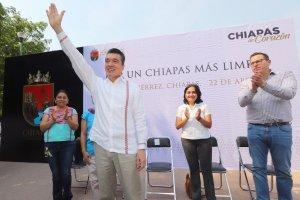 """Rutilio Escandón da banderazo de salida a campaña """"Por un Chiapas más limpio"""""""