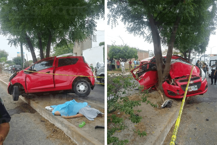 Muere conductora y cuatro personas más resultan heridas