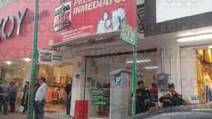 Asaltan tienda Prendamex y se llevan más de 300 mil
