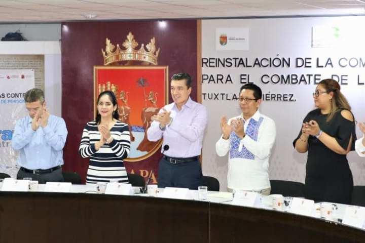 En Chiapas trabajamos con firmeza en la prevención y combate de la trata de personas: Rutilio Escandón