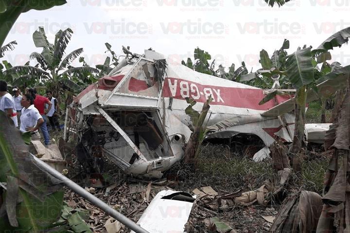 Se desploma avioneta en Pichucalco; el piloto falleció