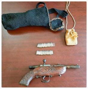 Transportaba tres kilos de mariguana y portaba arma de fuego