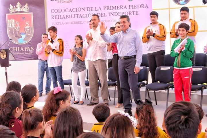Reitera Rutilio Escandón respaldo para impulsar la participación digna y activa de atletas de Chiapas