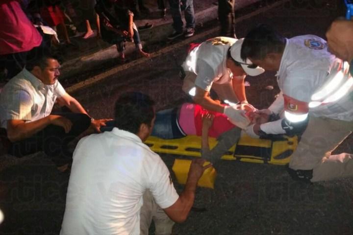 Atropellan a dos mujeres en Tuxtla; una está embarazada
