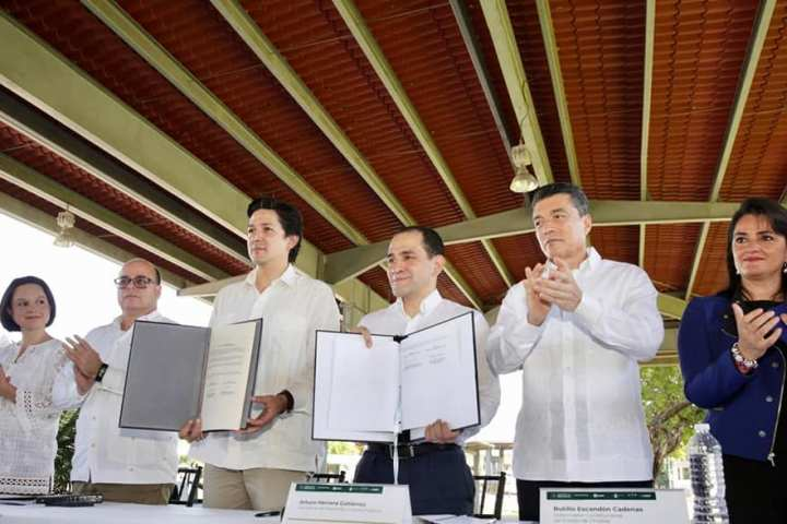 Acompaña Rutilio Escandón a titular de SHCP en Firma de Acuerdo Aduanero entre México y Guatemala
