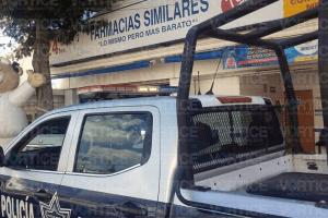 Asaltan Farmacias Similares de Terán y se llevan 30 mil pesos