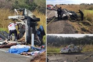 Asciende a 11 los muertos del carreterazo en Arriaga