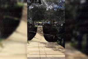 Cae niña de un puente colgante del parque ecoturístico El Mamut