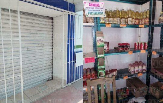 Roban por tercera ocasión una abarrotera en Berriozábal