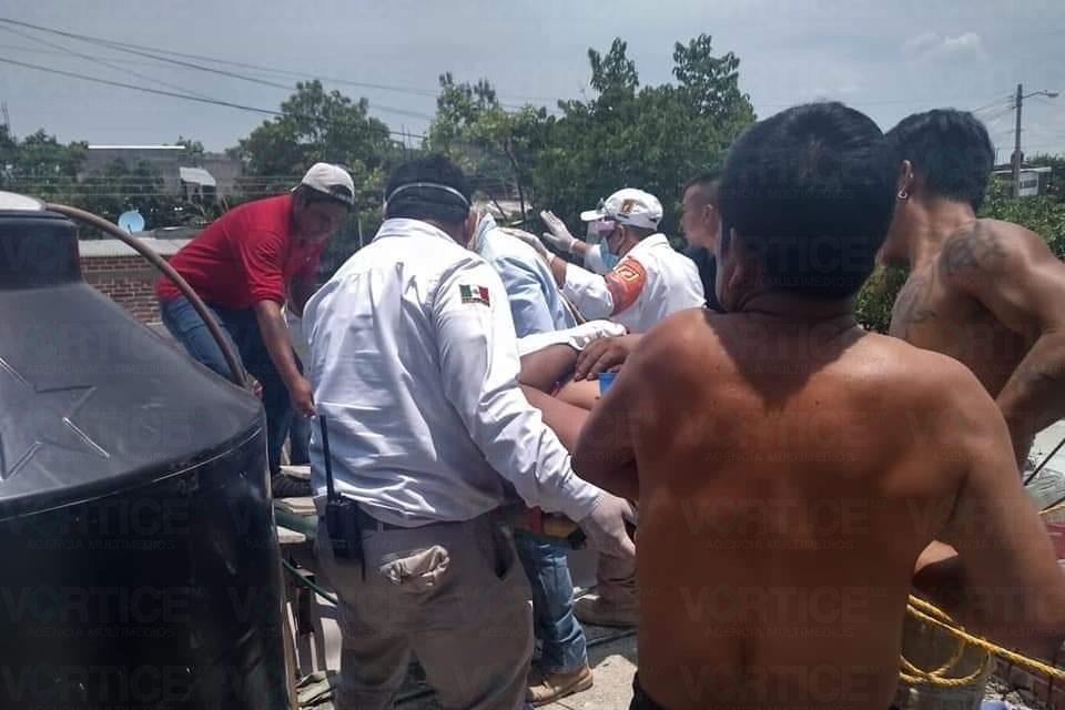 Taxista se electrocuta cuando colocaba una galera en Tuxtla