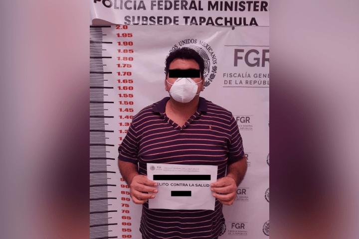 Cae presunto funcionario con 11 kilos de cocaína en Chiapas