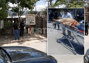 [VIDEO] Balean a tío y sobrino durante asalto en Terán