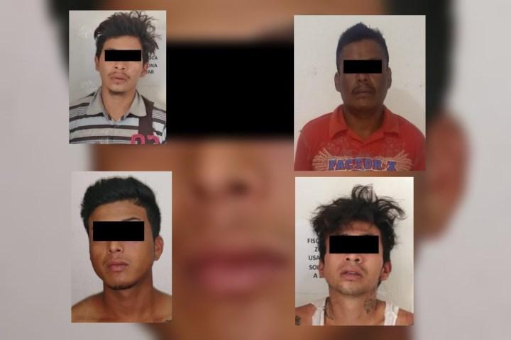 Detienen a cuatro por asalto a mano armada en Chiapa de Corzo