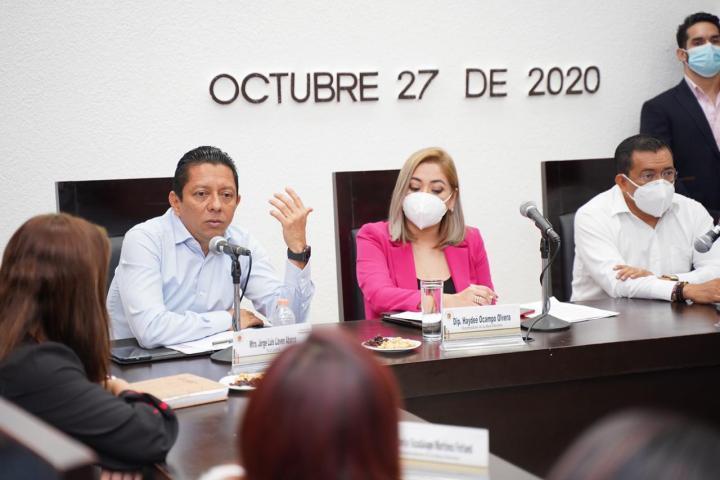 Encabeza Llaven reunión de trabajo con Mesa Directiva del Congreso del Estado