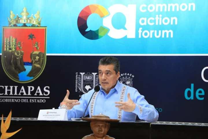 Rutilio Escandón y Marcelo Ebrard inauguran el Common Action Forum Chiapas 2020