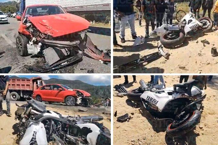 Encontronazo en Teopisca deja 2 heridos; uno de ellos grave