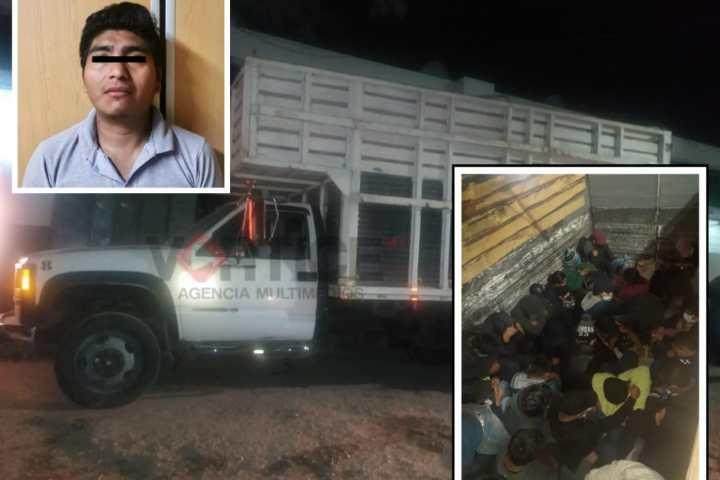 Transportaba a 46 indocumentados; fue detenido