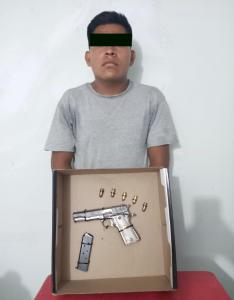 Detiene SSyPC a implicado en violación a la Ley Federal de Armas de Fuego y Explosivos en Tonalá