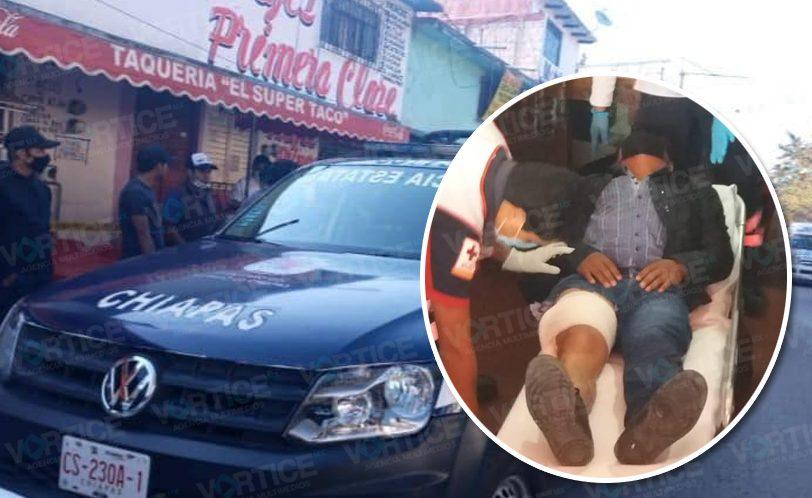Balean a profesor dentro de una taquería en San Cristóbal