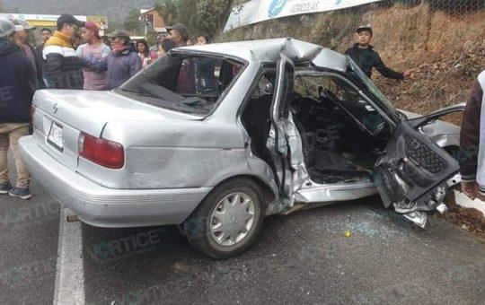 Violento accidente en Teopisca deja 4 heridos