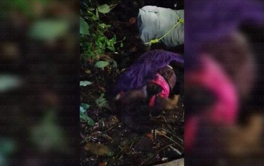 Obligan a presunto feminicida a desenterrar el cadáver de Pascuala
