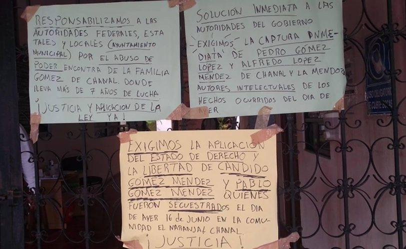 Secuestran a dos hermanos en Chanal y exigen 100 mil pesos
