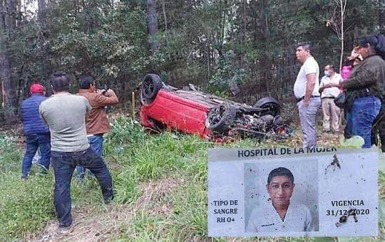 Muere enfermero de San Cristóbal en trágica volcadura