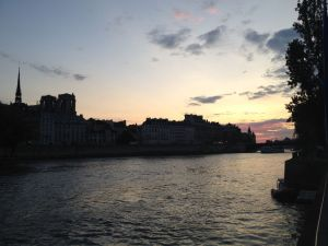 Paris Seine sunset-14-08-15